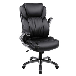 Songmics Big Office Chair with Thick Seat and Tilt Function UOBG94BK