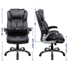 Load image into Gallery viewer, Songmics Big Office Chair with Thick Seat and Tilt Function UOBG94BK