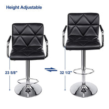 Load image into Gallery viewer, Songmics Adjustable Swivel Barstool Chairs  Set of 2 ULJB93B