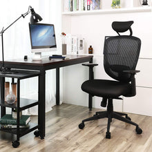 Load image into Gallery viewer, Songmics High Back Swivel Mesh Office Chair Black UOBN88BK
