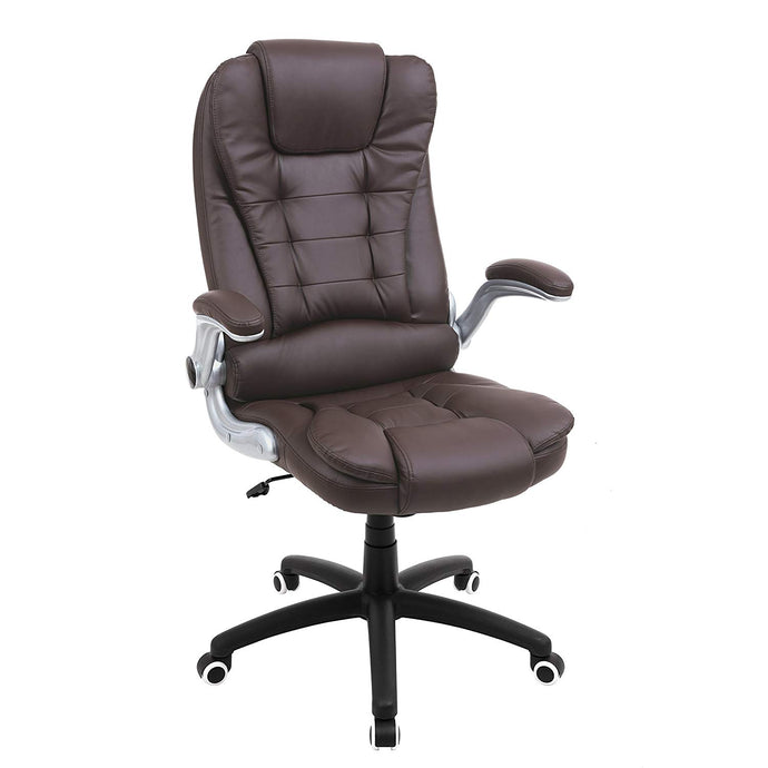 Songmics UOBG51BR Brown PU Leather Finish Office Chair