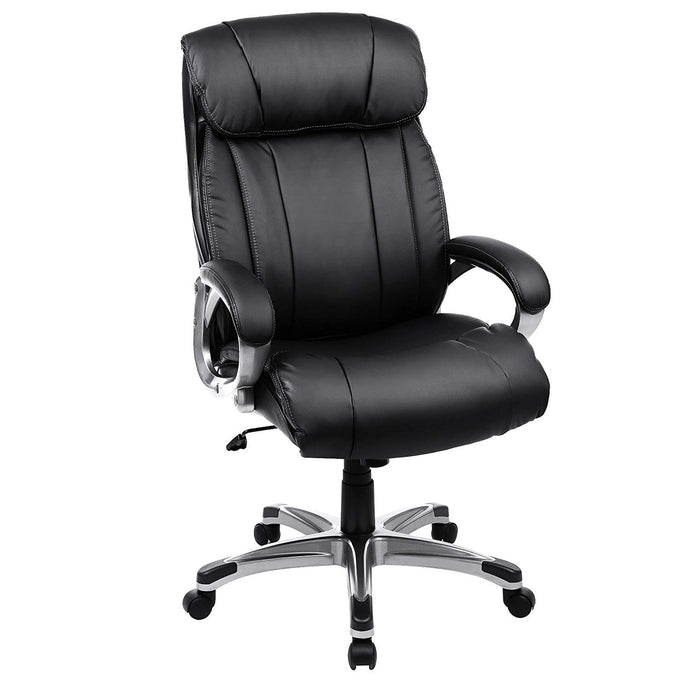 Songmics UOBG55BK Black PU Leather Finish Office Chair