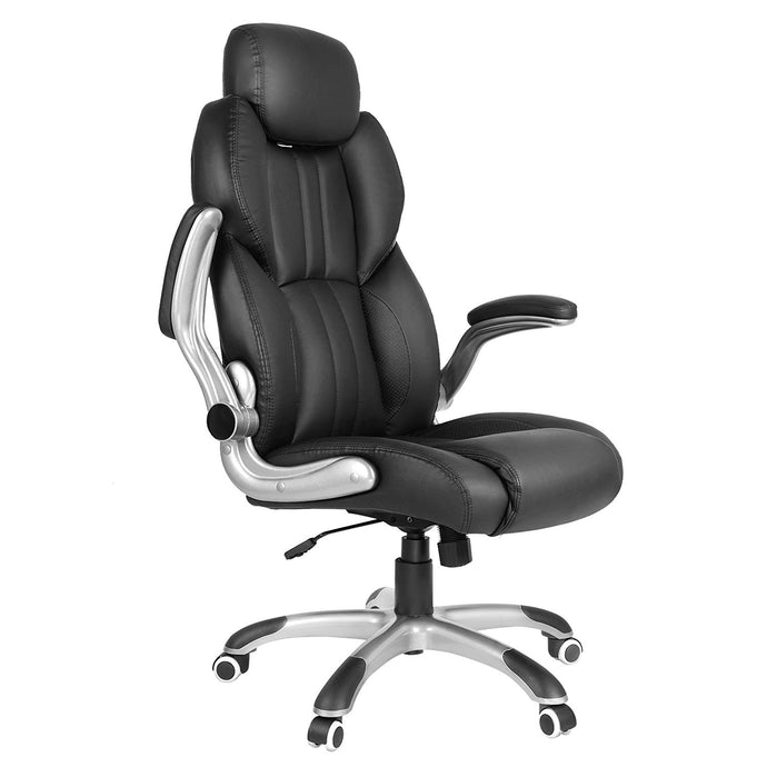 Songmics UOBG65BK Black PU Leather Finish Office Chair