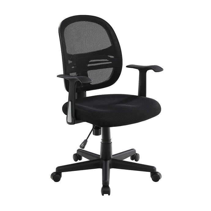 Songmics UOBN21BK Black PU Leather Finish Office Chair