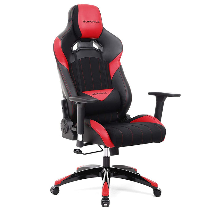 Songmics URCG23R Black And Red Fabric Finish Office Gaming Chair