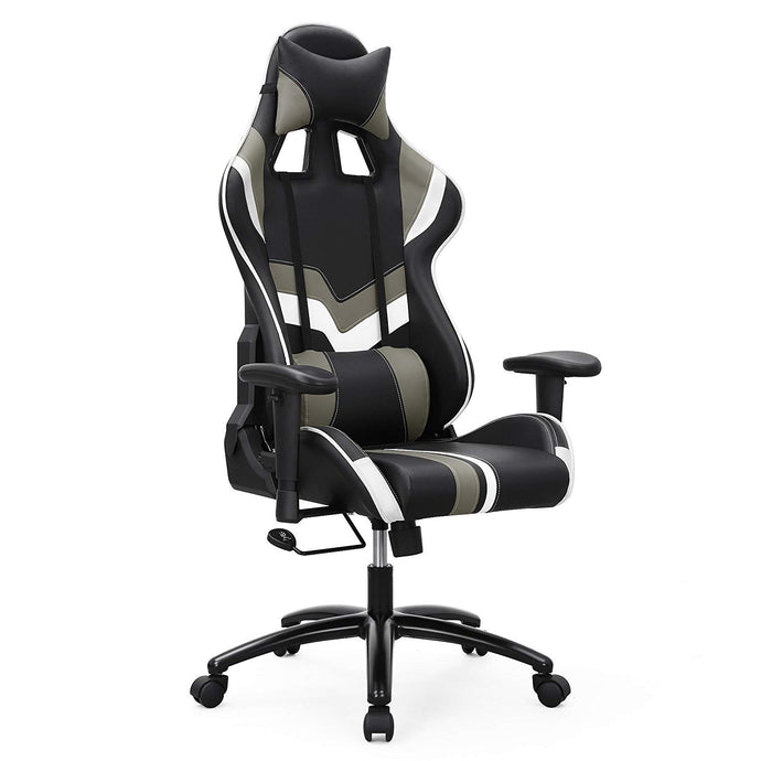 Songmics URCG27BW Black And Gray Fabric Steel Finish Office Gaming Chair