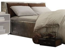 Load image into Gallery viewer, Acme Brancaster Vintage Brown Leather Queen Storage Bed