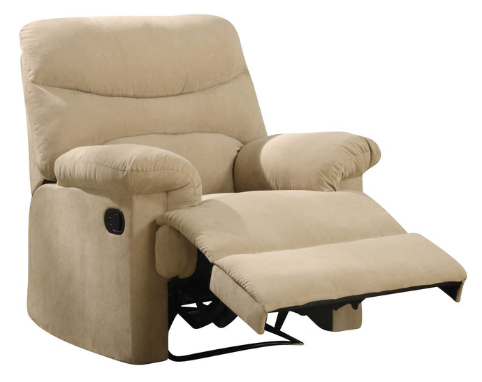 Acme 00626 Arcadia Beige Microfiber Finish Recliner Chair