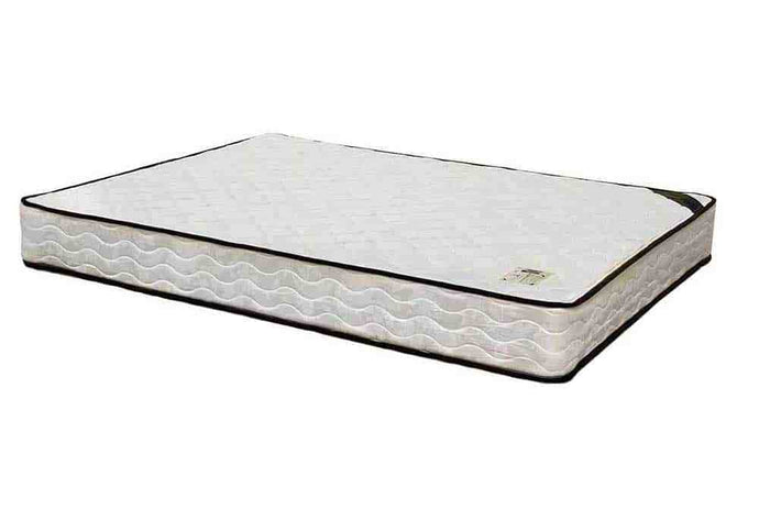 Miracle Mattresses Ortho Deluxe White Fabric Finish Twin Foundation