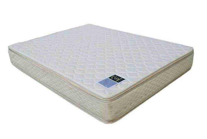 Miracle Mattresses Ortho Tender Rest White Fabric Finish Queen Foundation