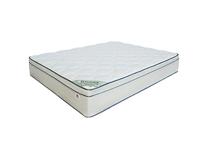 Miracle Mattresses Elegance Collection White Fabric Twin Foundation Set