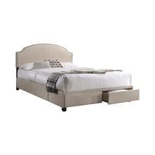 Load image into Gallery viewer, Homy Living Niland Beige Wood And Fabric Finish Queen Bed
