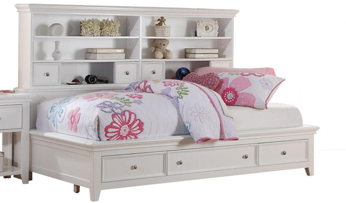 Acme 30595F Lacey White Storage Full Bookcase Daybed