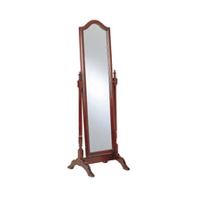 Load image into Gallery viewer, Coaster Cherry Wood And Glass Finish Cheval Mirror