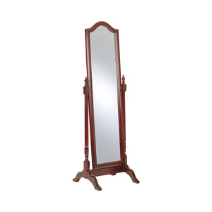 Coaster Cherry Wood And Glass Finish Cheval Mirror