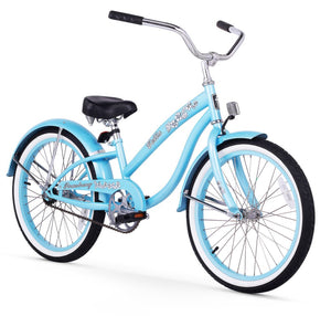 "Firmstrong Bella Classic Girl 20"" Beach Cruiser Bicycle in Baby Blue"