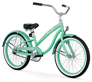 "Firmstrong Bella Classic Girl 20"" Beach Cruiser Bicycle in Mint Green"