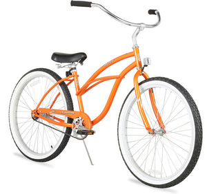 "Urban Lady Single Speed Women's 26"" Beach Cruiser Bike In Orange"