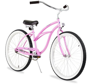 "Urban Lady Single Speed Women's 26"" Beach Cruiser Bike In Pink"