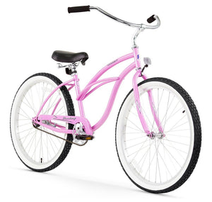 "Urban Lady Single Speed Women's 24"" Beach Cruiser Bike In Pink"