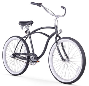 "Urban Man 3 Speed Men's 26"" Beach Cruiser Bike In Black"