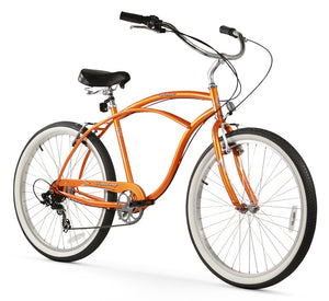 "Urban Man 7 Speed Men's 26"" Beach Cruiser Bike In Orange"