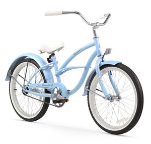 "Urban Girl 20"" Beach Cruiser Bicycle In Baby Blue Firmstrong"