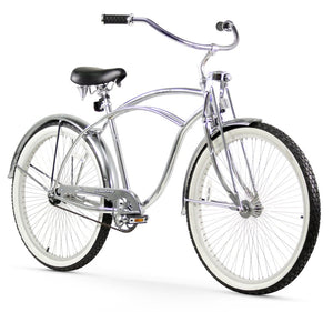 "Urban LRD Single Speed Men's 26"" Beach Cruiser Bike In Chrome"
