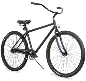 "Black Rock Single Speed Matte Black Men's 29"" Beach Cruiser Bike"