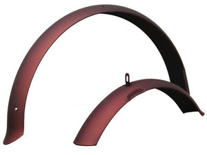 "26"" Firmstrong Fender Set Front and Rear Fenders Matte Brown"