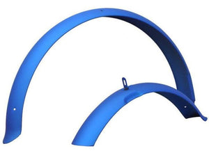"26"" Firmstrong Fender Set Front and Rear Fenders Matte Blue"