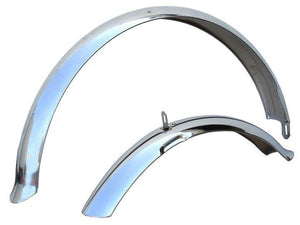 "24"" Firmstrong Fender Set Front and Rear Fenders In Chrome"