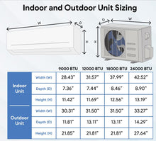 Load image into Gallery viewer, CoolTime 24000 BTU Ductless Mini Split Air Conditioner and Heater