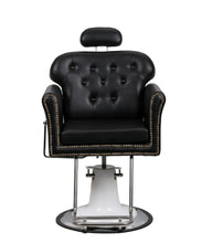 Load image into Gallery viewer, Beauty Mega Black Leather And Chrome Finish Hydraulic Barber Chair