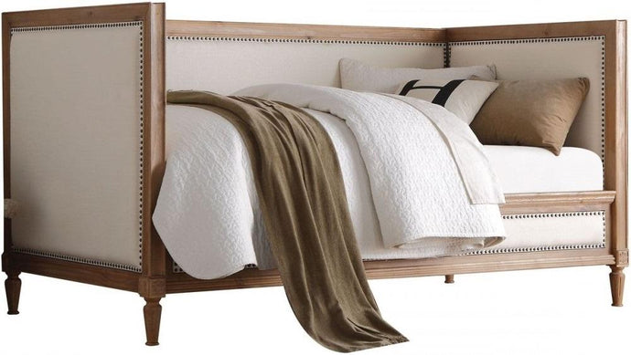 Acme 39175 Charlton Salvage Oak Cream Linen Twin Daybed