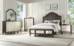 Acme Peregrine Brown Wood Finish 4 Piece California King Bedroom Set