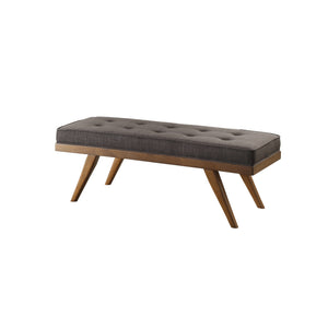Homelegance Bingsley Dark Gray Polyester And Wood Finish Bedroom Bench