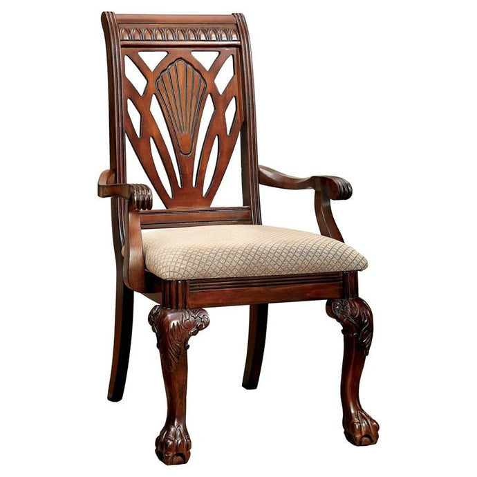 Furniture of America Petersburg I Traditional Cherry Arm Chair Set of 2