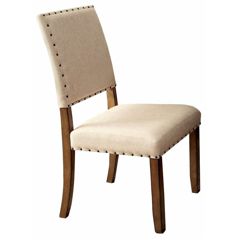 Melston CM3531SC Transitional Natural Tone Finish Side Chair Set of 2