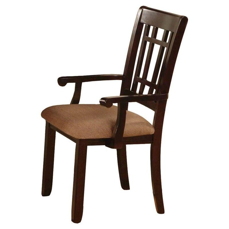 Furniture Of America Central Park I Dark Cherry 2 Piece Dining Arm Chair
