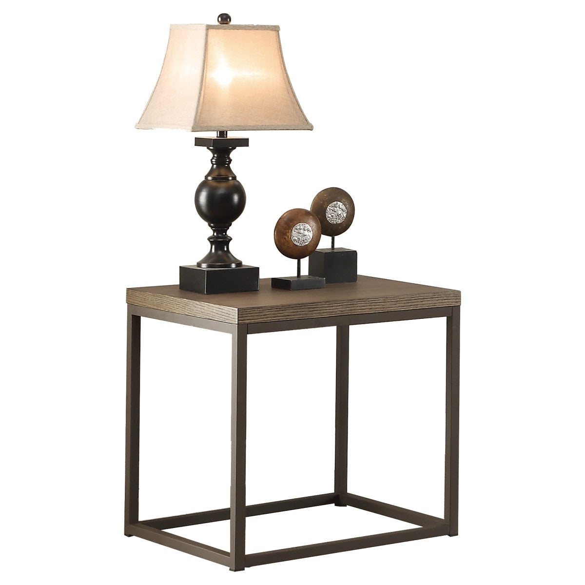 Homelegance Daria Gray Wood And Metal Finish End Table