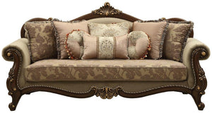 Acme 50690 Mehadi Rich Walnut Finish Traditional Sofa