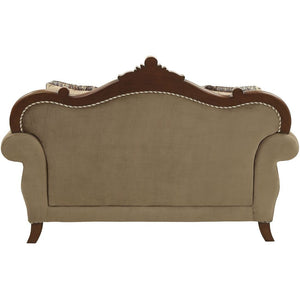 Acme 50691 Mehadi Rich Walnut Finish Traditional Love Seat