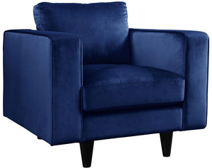 Acme 51077 Heather Navy Velvet Finish Transitional Chair