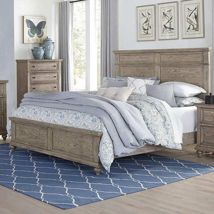 Homelegance Barbour Whitewash Oak Wood Finish Eastern King Bed
