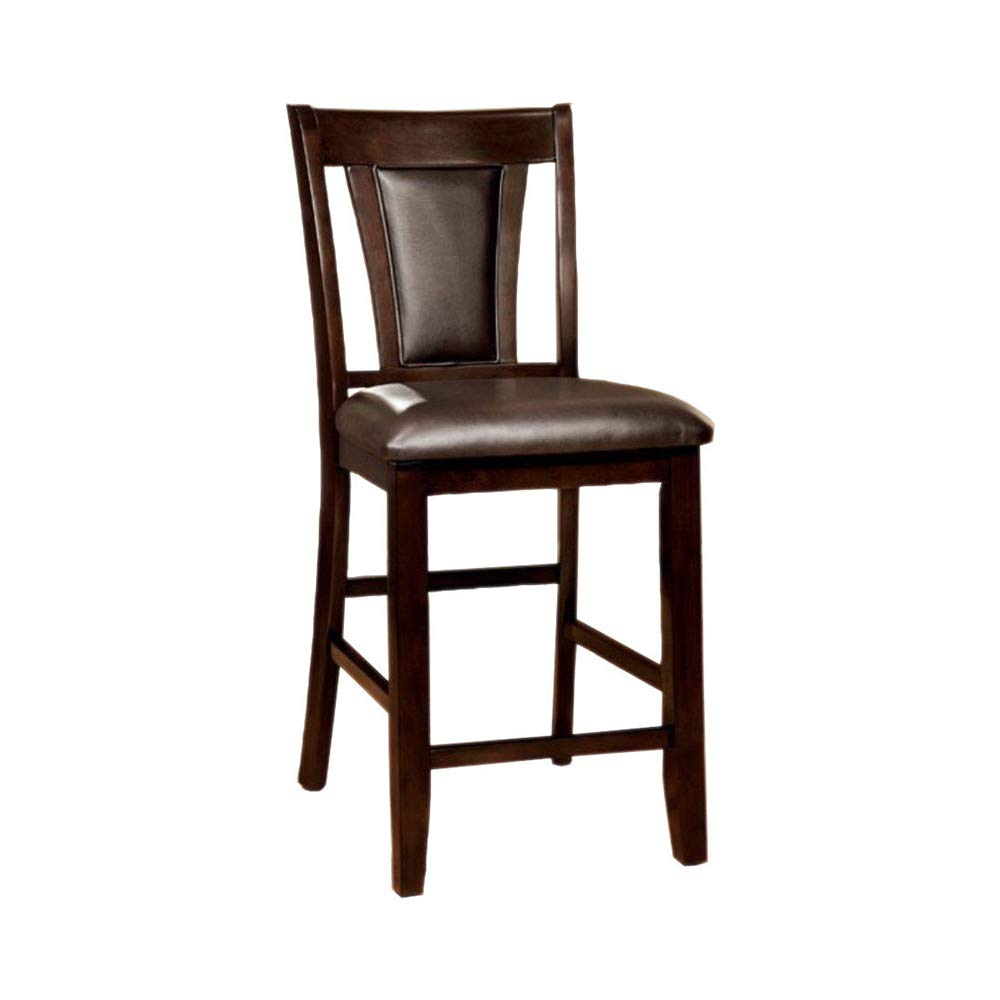 Brent II CM3984DK-PC Dark Cherry Brown Counter Height Chairs Set of 2