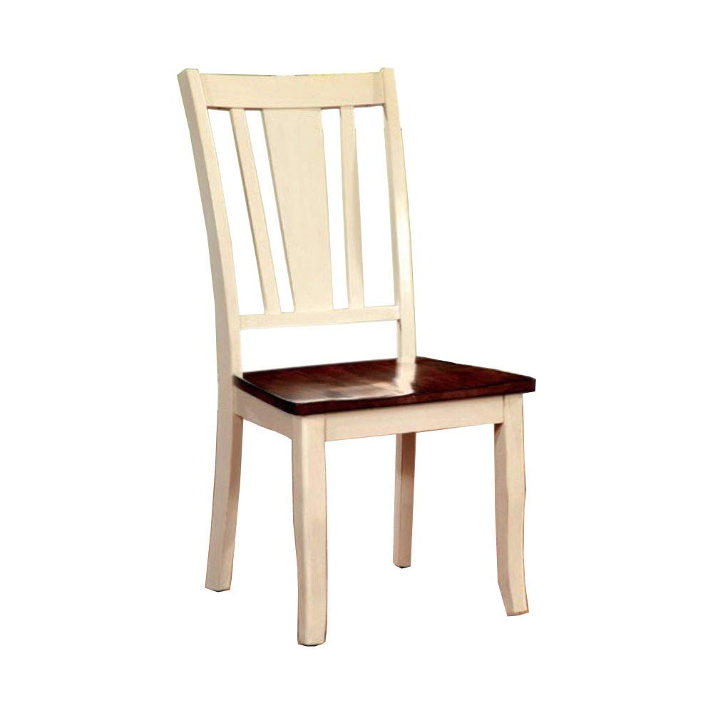 Dover CM3326WC-SC Transitional White Cherry Side Chair Set of 2