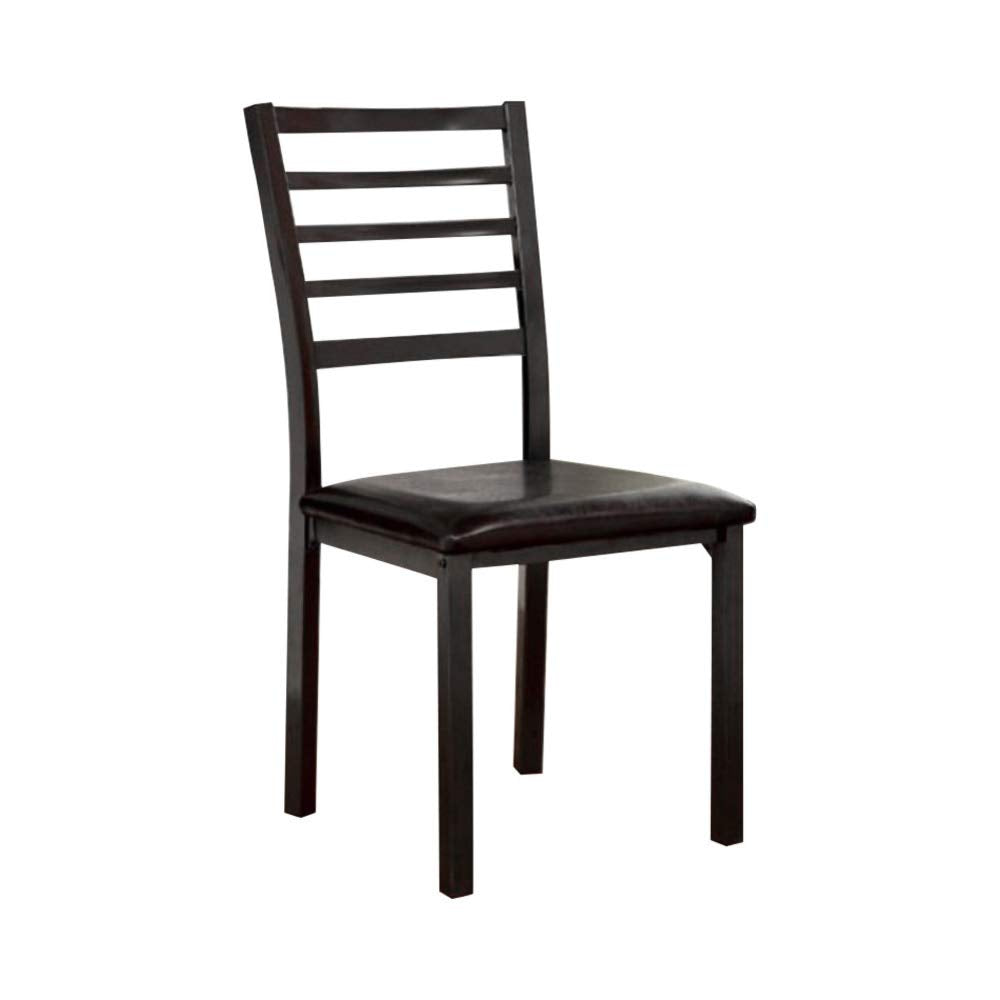 CM3615SC-4PK-KD Colman Black Metal Legs Side Chair