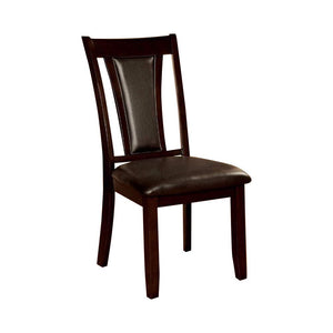 Brent CM3984DK-SC 2Pcs Transitional Dark Cherry Brown Seat Side Chairs