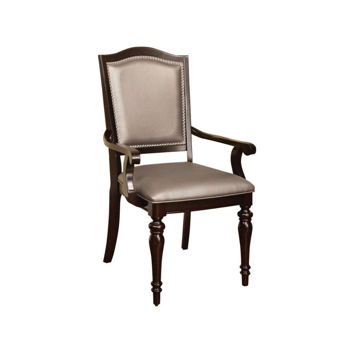 Furniture of America Harrington Pewter Leatherette Finish 2 Piece Arm Chair